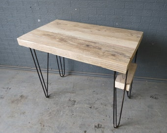Chic Reclaimed Wood Office Desk stylish design ideas reclaimed wood office furniture plain reclaimed wood desks and home office furntiure chic Industrial Chic Reclaimed Custom Hairpin Leg Office Desk Tables Steel And Wood Metal Hand Made