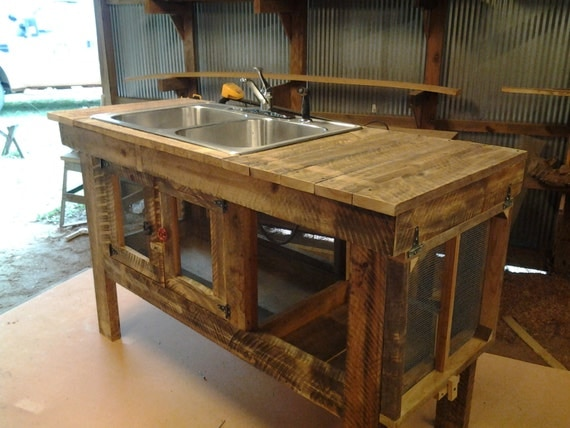 items similar to rustic outdoor sink on etsy