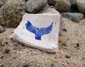 Linen Coaster Set of 6 - Whale's Tail