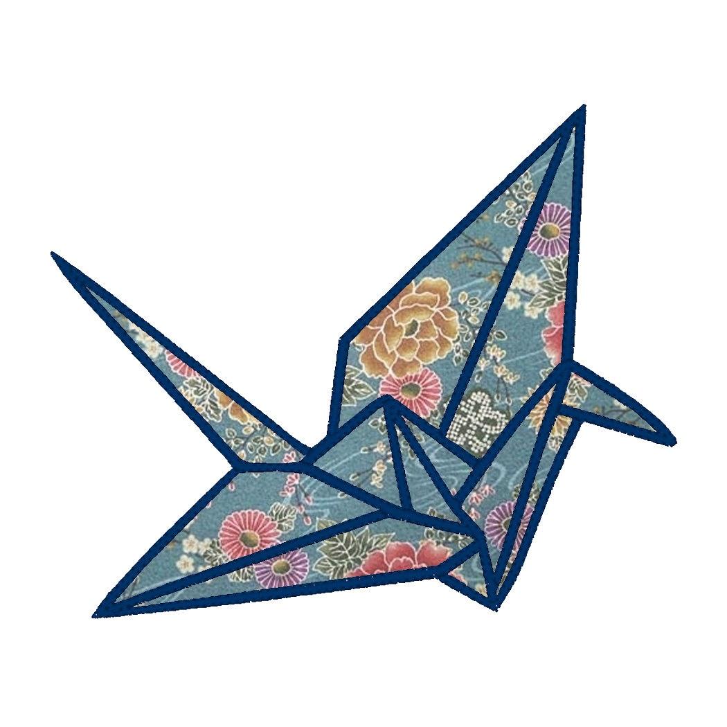 Origami Crane Applique Embroidery Design Pattern for ... - photo#26