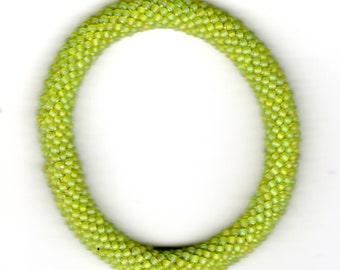 Green Beaded Rope Bracelet