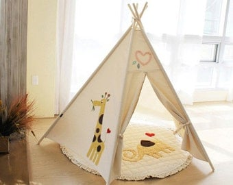 SOABE giraffe and tree teepee kids teepee teepee tent play tent kids & SOABE elephant teepee kids teepee play tent Indian tent