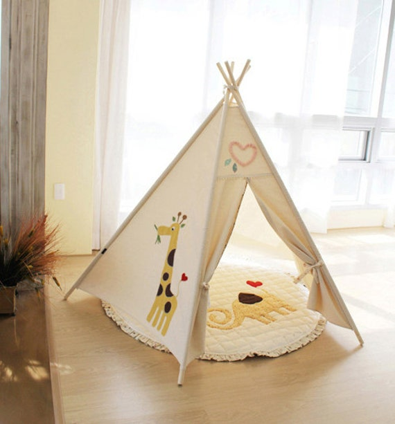 Like this item? & SOABE giraffe and tree teepee kids teepee teepee tent play