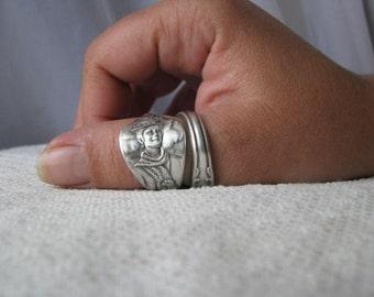 "Spoon Ring, Flatware Jewelry, Ring, Disney Ring, Disney, Walt disney, Vintage Silver Plate Spoon, ""Mary Poppins"" by Oneida Ltd. 1964"