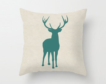 Deer Pillow cover 18x18 inch- Decorative Cushion  Cover Accessories - Throw Pillow Cover