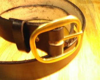 """Leather Belt, Black, 1.5"""" Wide"""