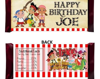 Jake and the Neverland Pirates Candy Wrapper- PERSONALIZED
