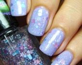 Drops of Jupiter (Train) Glitter Topper - 5 free, cruelty free hand mixed indie nail polish inspired by music