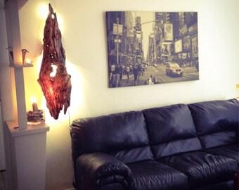 Driftwood wall lamp, wall lighting, led lighting, Driftwood Art, Driftwood Sculpture, Wall Art, Reclaimed Driftwood, Refinished Driftwood