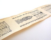 tiny japanese scroll / vintage japanese paper scroll / buddhist vintage scroll / vintage prayer scroll / tiny prayer scroll