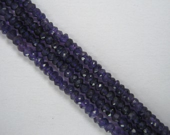 Faceted Natural Amethyst Bead Strands