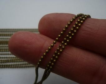 10M - Bronze Tone Ball Chain - 1.5mm REF CHN2B