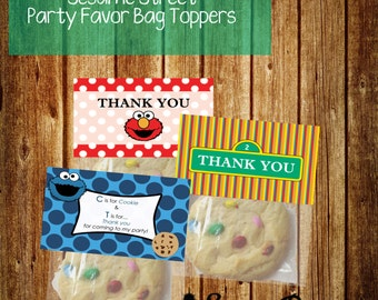 Sesame Street Party Favor Bag Topper Variety Pack