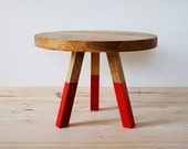 """Table, coffee table, unique, round, Oak Furniture series """"Red Oak"""""""