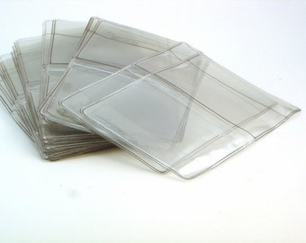 Clear Vinyl Business Card Holder Blank 12 gage Made in the USA