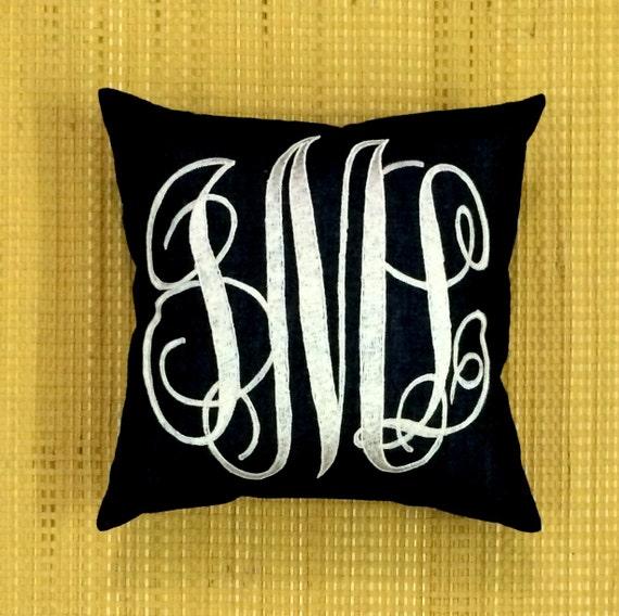 Decorative Monogram Pillows : Monogram Pillow Decorative Pillow Personalized Gift Custom