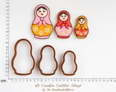 Matryoskha Cookie Cutter Set (Russian dolls)