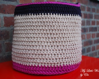 Large Crochet Basket
