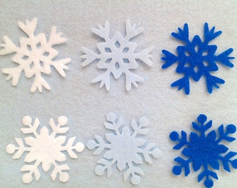 Die cut felt snowflakes 36 pieces