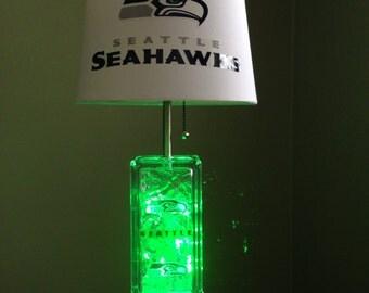 Seattle Seahawks gllassblock lamp