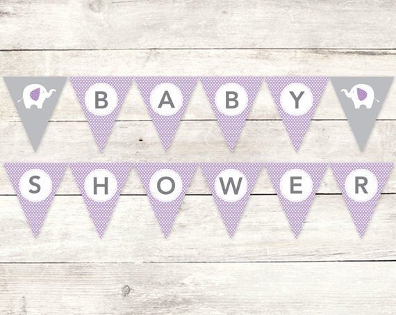 Sweet image inside baby shower banner printable