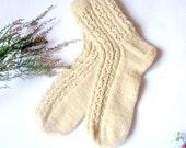hand knitted women  wool socks, Wonderful Christmas gift for anybody