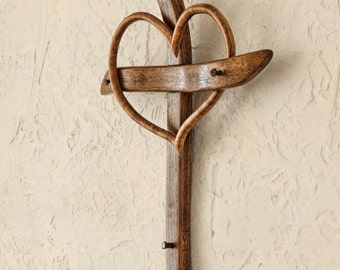 Wall cross with a heart, Wall crosses, Cross