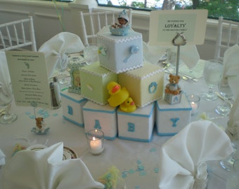 Building Blocks Baby Shower Centerpiece