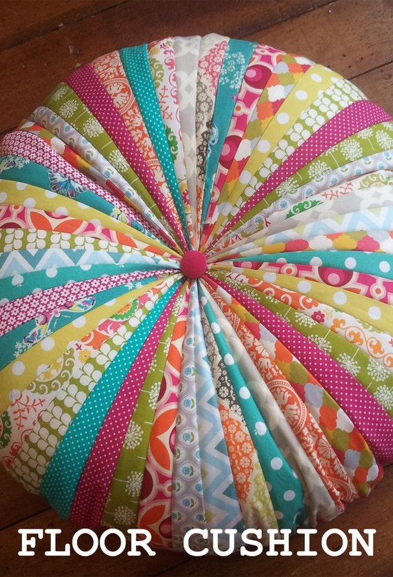 Items similar to Round floor cushion SEWING PATTERN on Etsy