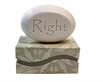 Soap Sentiments - Personalized Scented Soap Bar Engraved with Right