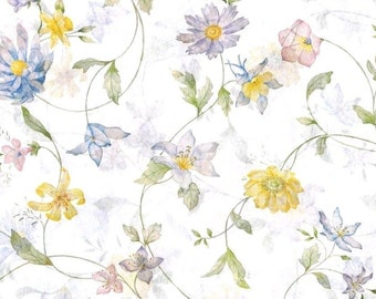 Wildflower Tissue Paper # 331 ... 10 large sheets .. beautiful floral