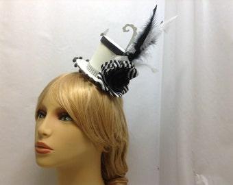 Mini mad top hat, mad hatter mini hat,paper top hat