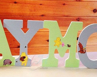 Custom Painted Wood Letters - Nursery Decor - Wooden Letters - Wood letter name - Personalized