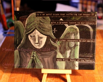 Anne Rice inspired Desk Art- Queen of the Damned, The Vampire Chronicles III