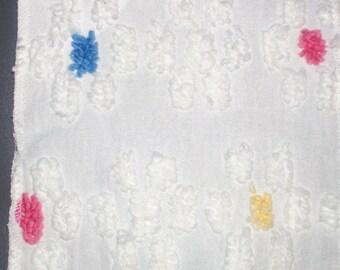 Chenille floral design cotton fabric
