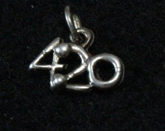 Tea Time is 4:20 - Sterling Silver Pendant