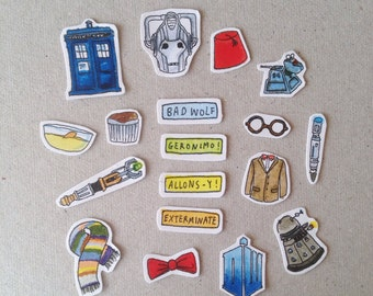 Doctor Who/ Whovian stickers