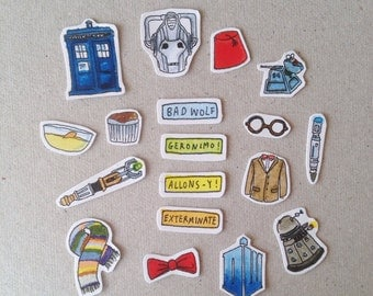 Doctor Who stickers/ Whovian stickers *FINAL 3 PACKS