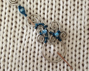 Limited Edition Blue Shawl Pin