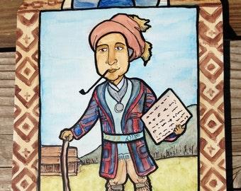 Retablo of Sequoyah