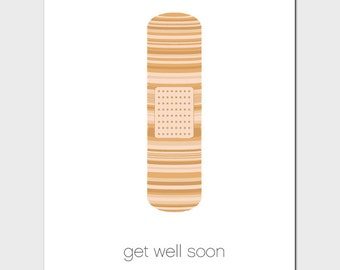 Get Well Bandage Card