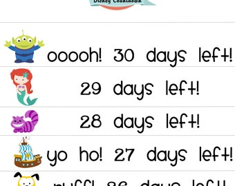 Disney Countdown - INSTANT - digital file download - Perfect for Disney Park visits