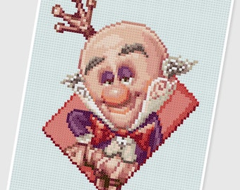 PDF Cross Stitch pattern - 0012.King Candy (Wreck It Ralph) - INSTANT DOWNLOAD