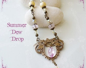 Summer Dew Drop necklace