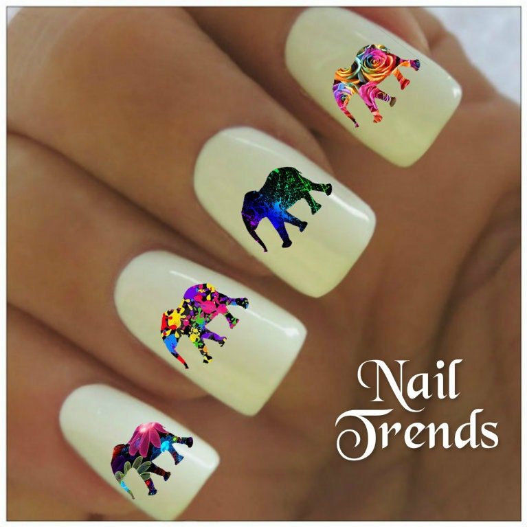 Today Live Sports: Elephant Nail Decal 20 Vinyl Adhesive Decals Nail ...
