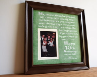 Irish Wedding Gift, Irish Wedding Anniversary, Irish Anniversary, Irish Anniversary Blessing, Irish Wedding Blessing, Irish Frame, 15x15