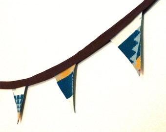 Handmade wool bunting flags | pennant banner