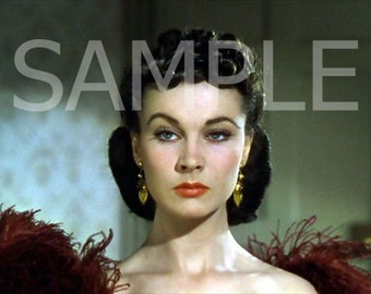 Fabric Art Quilt Block - Gone With The Wind - Scarlett O'Hara  GWTW11- FREE Shipping