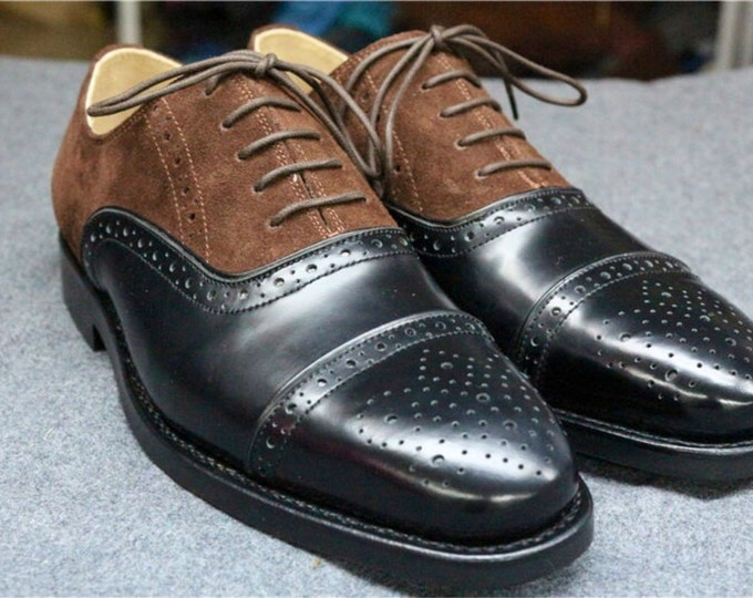 Handmade Goodyear Welted Brogue Men's Dress Shoes,Matching Leather or Pure color