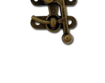 Swing Bag Clasp Small Antique Brass Finish 1306-01